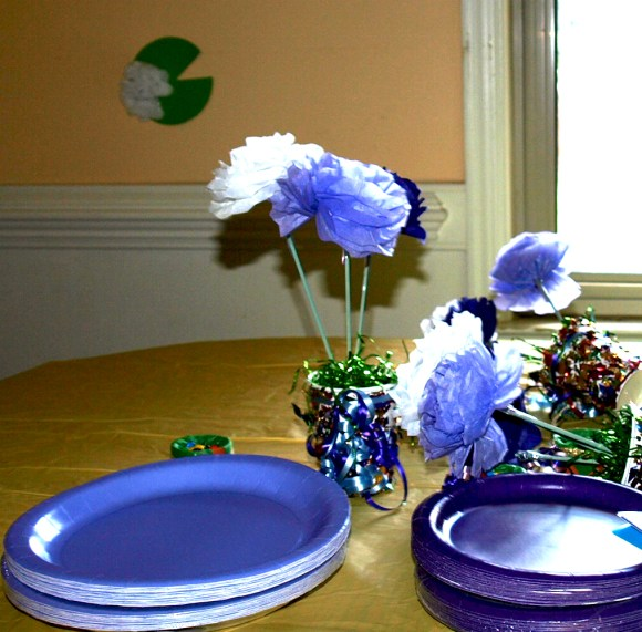 Princess and the Frog Flowers Table Decoration
