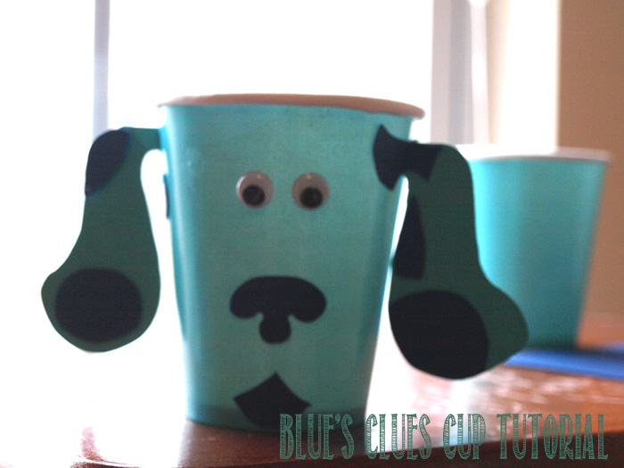 Blues clues cup tutorial