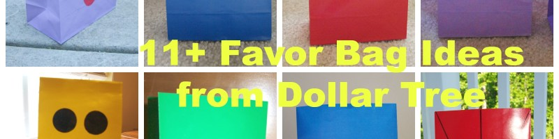 10+ Dollar Tree Favor Bag Ideas