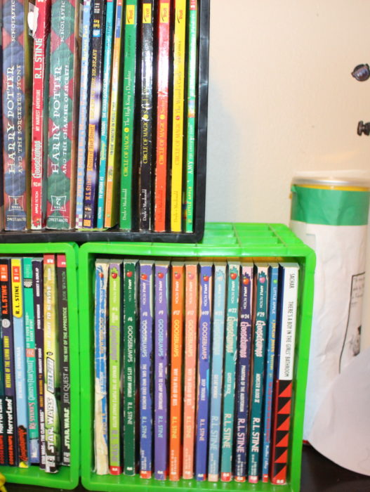 Dollar Tree Book Containers