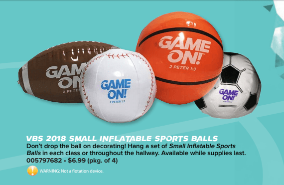 Lifeway Inflatable Sport Balls Game On