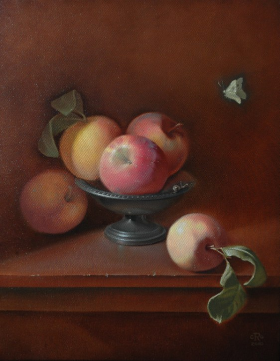 Rebecca C Gray, Apples with Butterfly, 2010