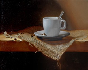 Rebecca C Gray Still Life with Coffee, 2011.