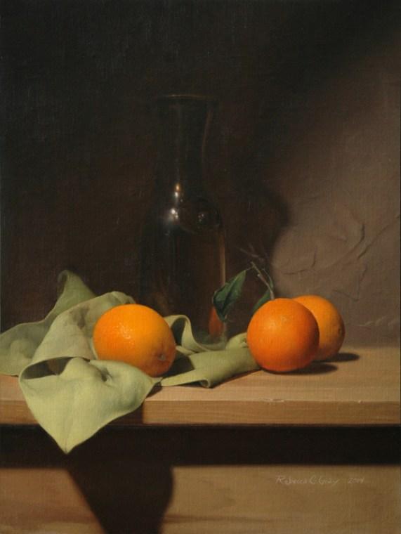 Rebecca C Gray, Still Life with Oranges, 2014.