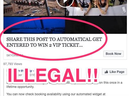 Illegal Facebook Contest