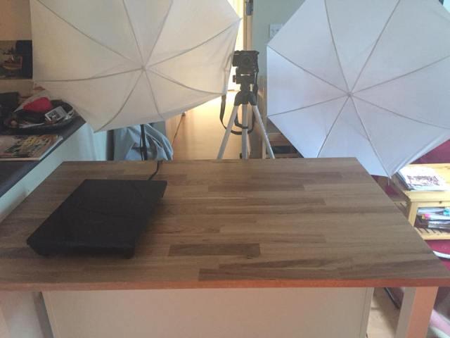 Food vlogging setup