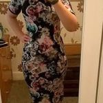 florals, dark florals, midi dress, outfit of the week, ootd, fashion blogger
