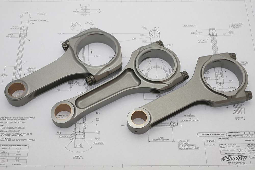 Arrow Precision Engineering Connecting Rod Drawings