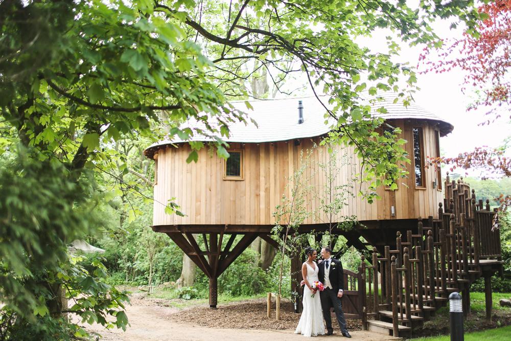 Tree house at Hothorpe Hall