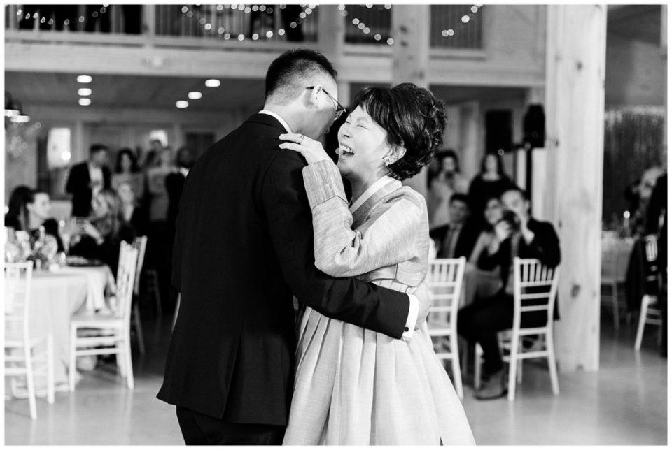 Mother Son Dance. Wedding Reception.