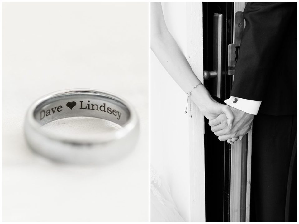 First touch. Wedding ring.