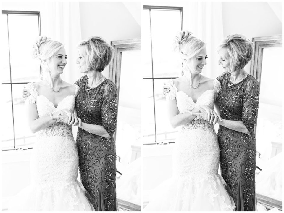 Bride and mother.