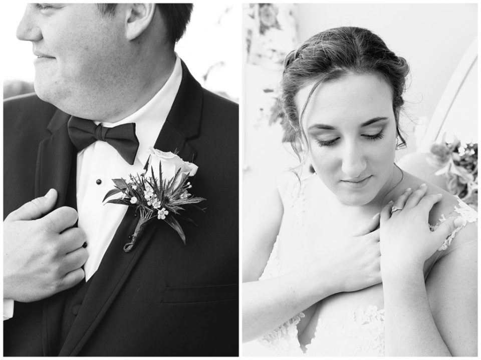 Bride and Groom Detail. Bowtie. Engagement Ring.
