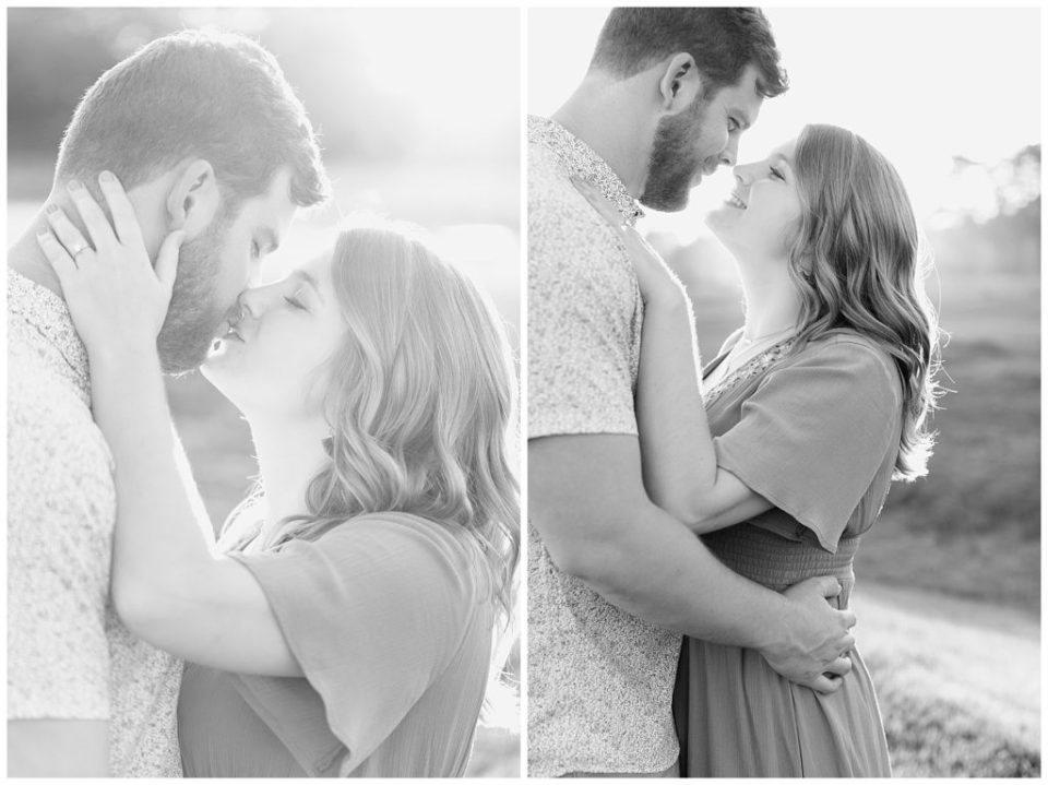 Black and white. Engagement photography.