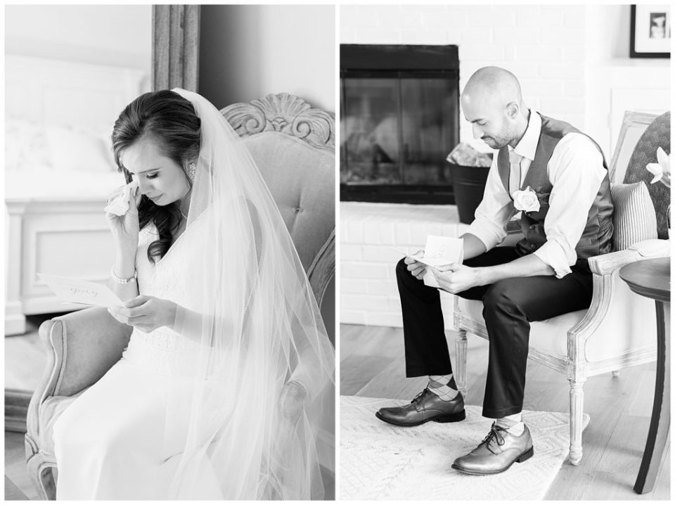 Emotion. Letters. Bride and Groom. The Barn at Willow Brook.
