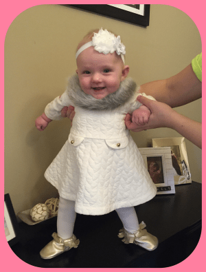 Blakely Faye - Pretty gussied up for five months old!