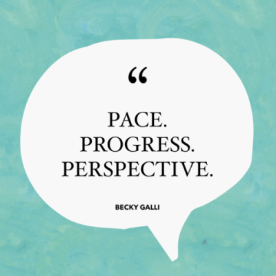 Pace. Progress. Perspective.