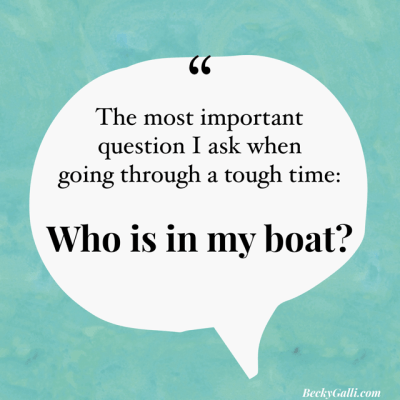 Who is in my boat?