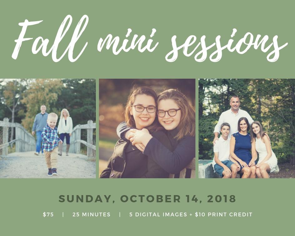 Fall mini sessions 2018 Rebecca Gatto Photography