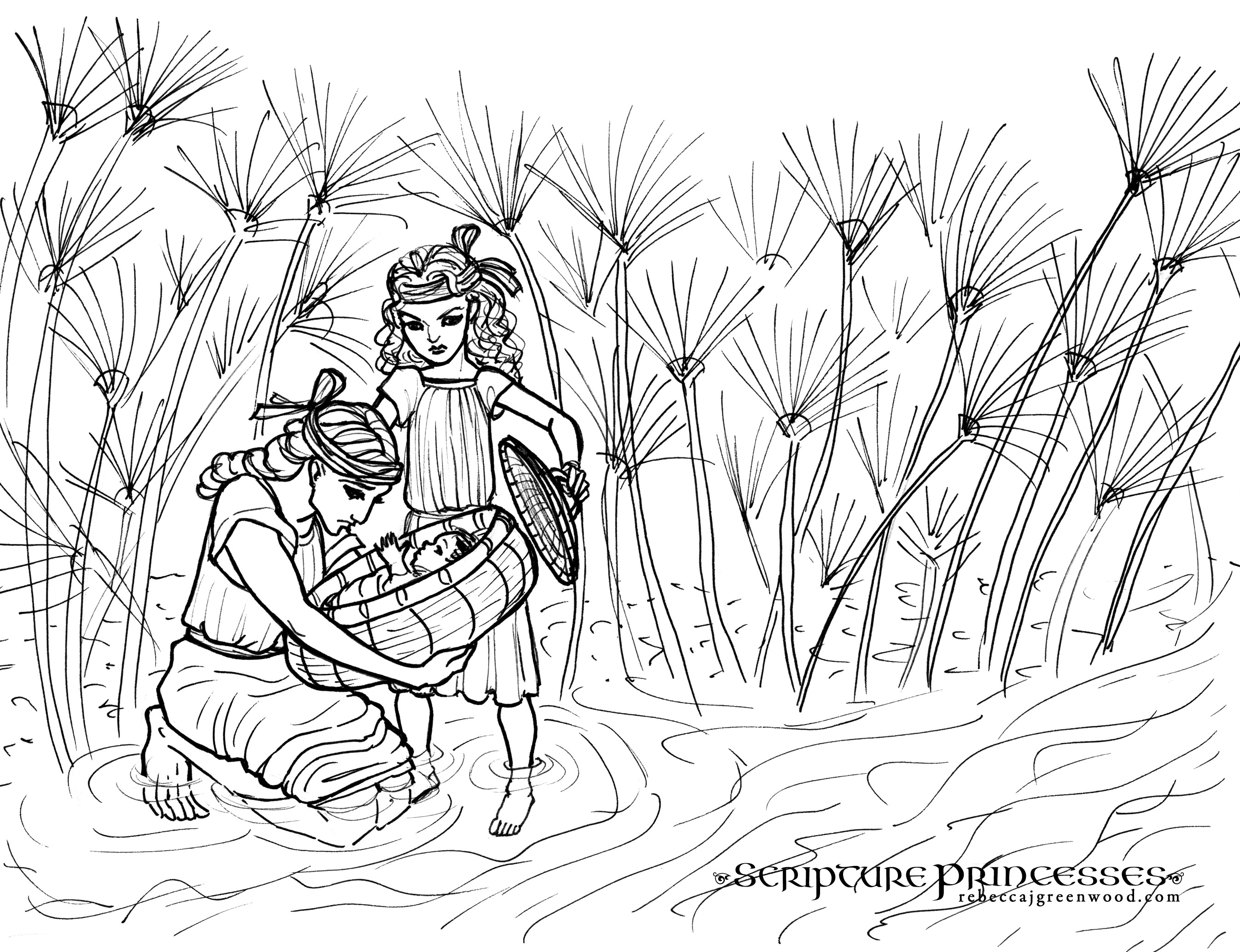 Free Coloring Page Miriam Rebecca J Greenwood