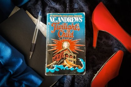 Book flatlay of Twilight's Child by V.C. Andrews