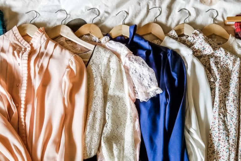 "An image of some of my vintage clothing buys from the shops listed in the ""5 Vintage Boutiques I Love"" blog post."