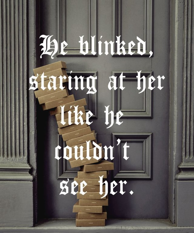 """Quote from SPELLBOUND: """"He blinded, staring at her like he couldn't see her."""""""