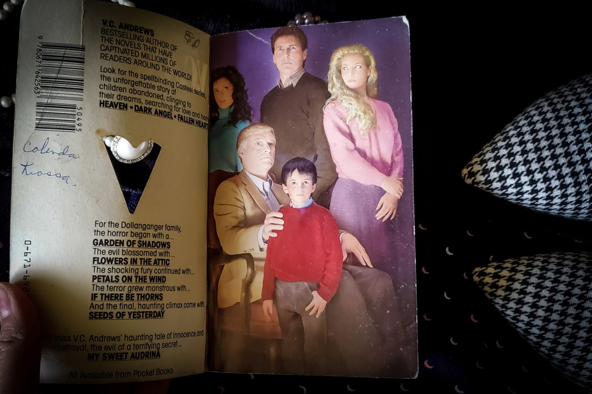 Stepback cover of FALLEN HEARTS by V.C. Andrews