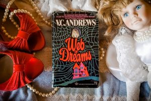 Cover of Web of Dreams by V.C. Andrews - Flatlay by Rebecca Jones-Howe