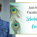 Join Me on Facebook for Scheduled Live Events