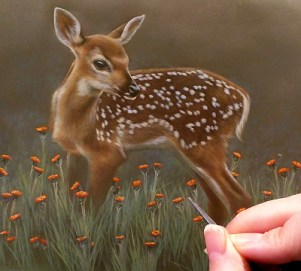 New Small Miniature Watercolor Painting by Rebecca Latham