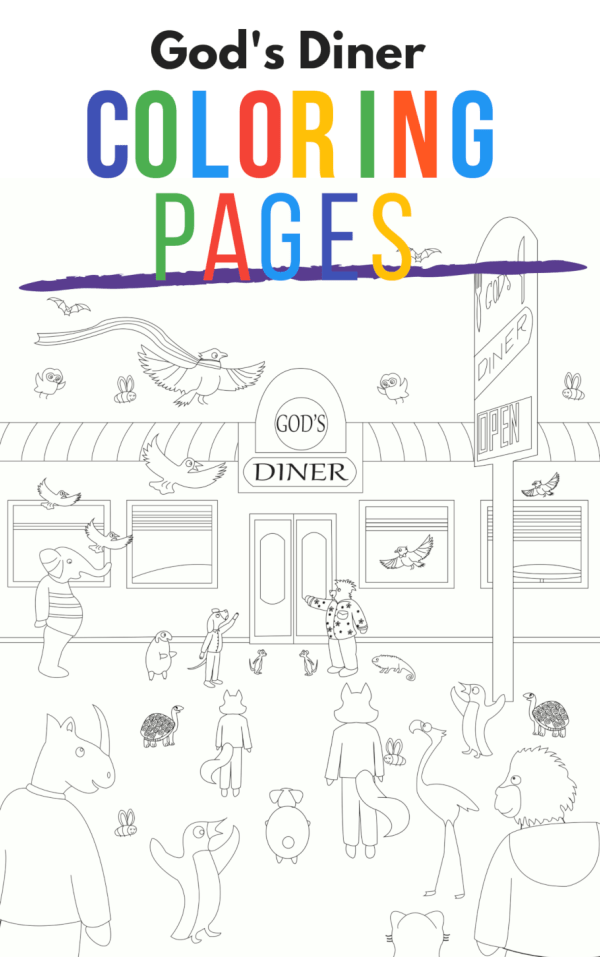God's Diner Coloring Pages
