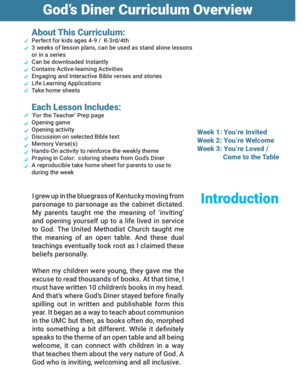 Curriculum Sample Page 2