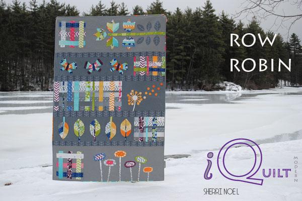 #iquilt modern row quilt