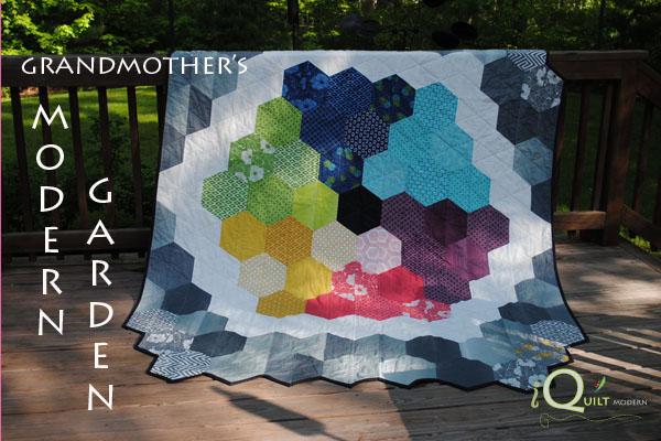 Grandmother's modern garden quilt