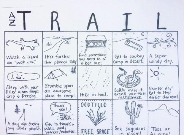 Arizona Trail Bingo