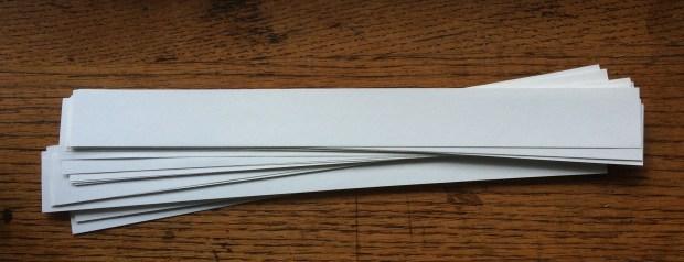 White slips of paper