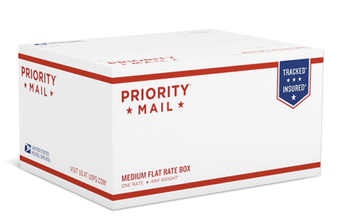 medium flat rate priority box