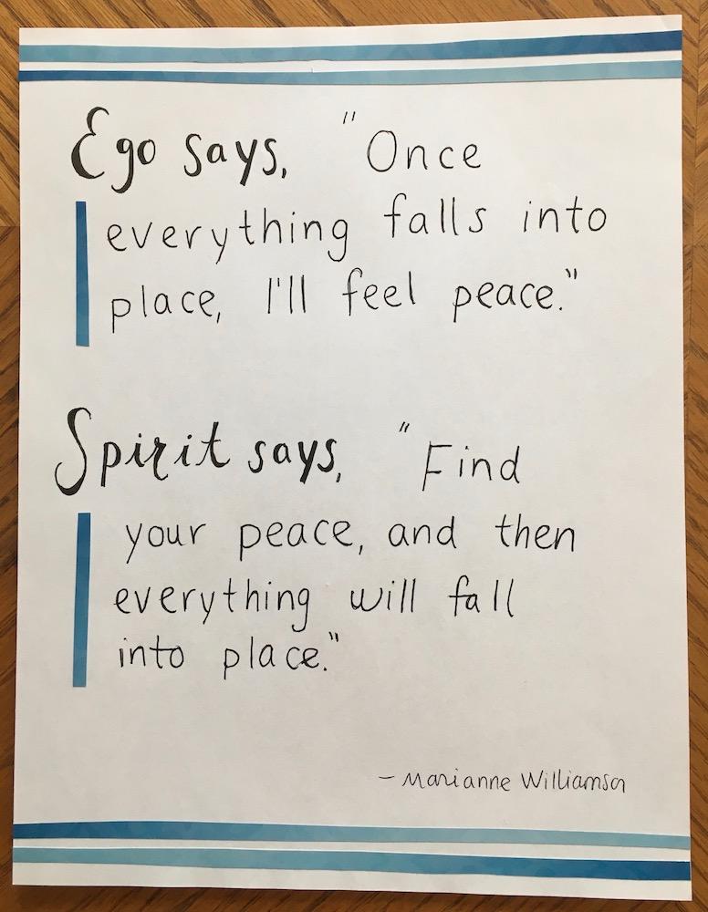 ego spirit quote marianne williamson