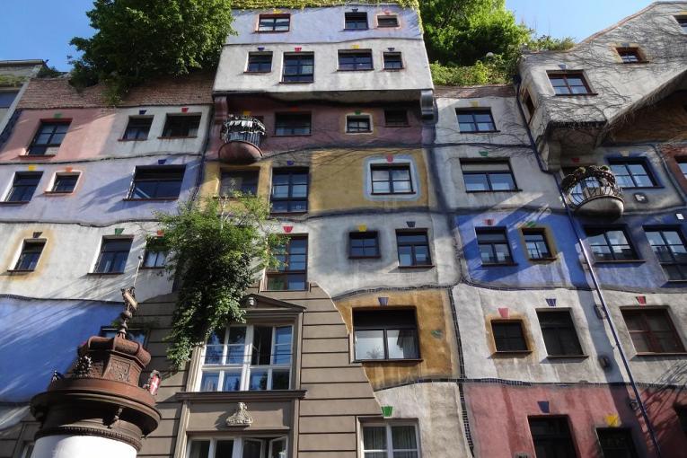 Hundertwasser apartment building