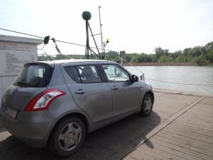 Suzuki Swift on the ferry