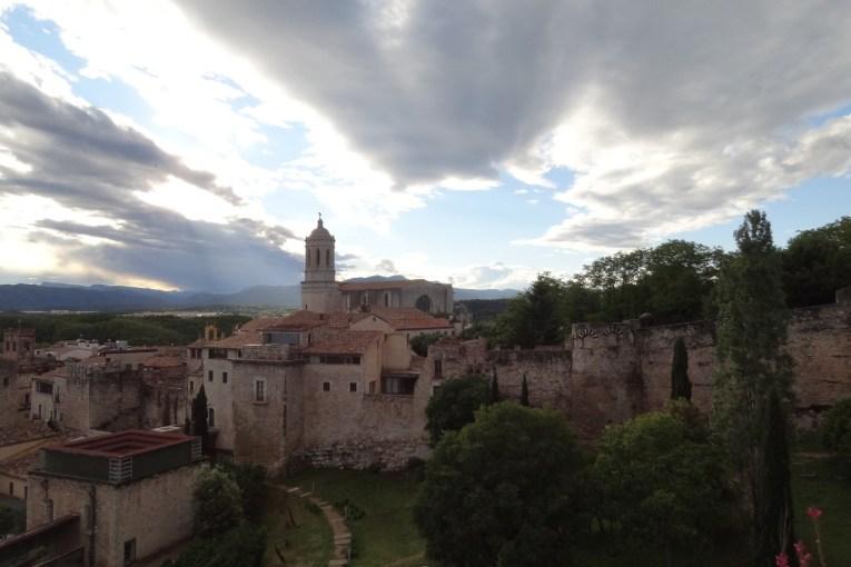 Girona Cathedral from the Passeig de la Muralla