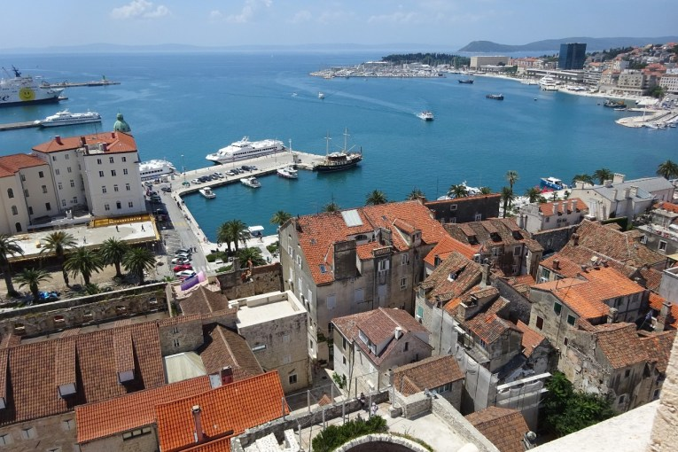 Split view from St Dominus bell tower