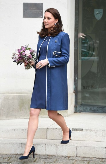 Blue & White Jenny Packham Coat & Dress