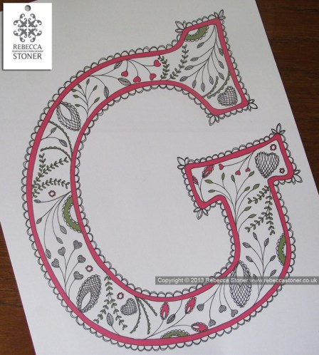 Patterned Initial_Rebecca Stoner