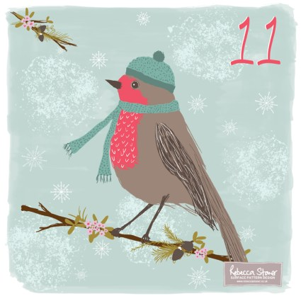 Day 11 - Robin Red Breast by Rebecca Stoner www.rebeccastoner.co.uk