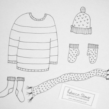 Winter Warmers by Rebecca Stoner for #artdaily2015 www.rebeccastoner.co.uk