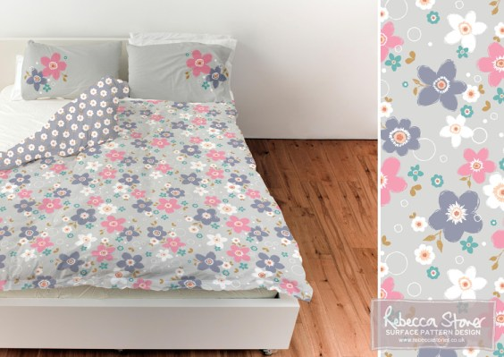 Spring Floral Bedding by Rebecca Stoner www.rebeccastoner.co.uk