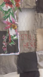 """Embroidery - """"STILL HERE"""""""