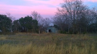 Abandoned Barn at Sunset